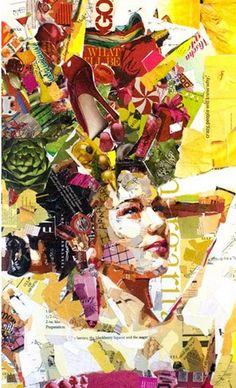 """O artista Nova Iorquino Derek Gores conhecido principalmente pelas suas colagens realizadas com material impresso """"reciclado"""" como revistas, rótulos, classificados e outros materiais para criar obras sobre tela. A série produzida por Gores mostra contrastes entre a beleza viva das… Continue Reading →"""