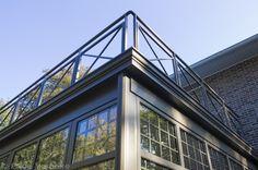 Leefveranda met 'welnessterras' op het dak, aluminium veranda | De Mooiste Veranda's