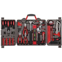 Apollo Tools 71 Piece Household Tool Kit with Most Reached for Hand Tools in Storage Case. A clever selection of the most reached for hand tools used for DIY household repairs and maintenance tasks. Hand Tool Kit, Tool Set, Claw Hammer, Precision Tools, Power Hand Tools, Home Tools, Home Repair, Chrome Plating, Apocalypse Survival