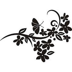 Butterfly Floral Design Vinyl Art. ?