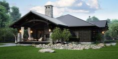 ideas home rustic country woods for 2019 House Sketch, Cottage Plan, Ranch Style, Log Homes, Rustic Design, Modern House Design, Exterior Design, Design Case, Beautiful Homes