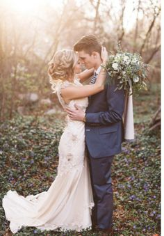 Modest wedding dress with floral detail from alta moda.  ----      -- photo by alixann loosle