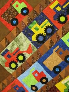 """""""Those Crazy Kids"""" by Buggy Barn Quilts is our newest book and model. The book contains a number of patterns including this design: """"Convoy"""". A stacking technique is use…"""