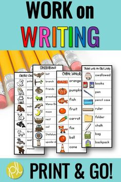 Add these personal writing lists to your Daily 5 centers! Print and go - choose from 60 lists based on student favorites. From #positivelylearning #writingcenters
