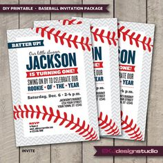 DIY Printable BASEBALL Rookie of the Year Birthday Party