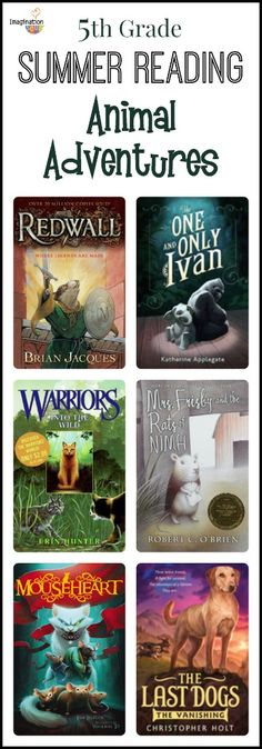 summer reading list: animal adventure stories for 5th grade readers