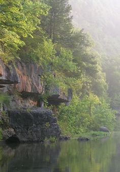 Morning on Jacks Fork River, Ozark National Scenic Riverways, Missouri - The Jacks Fork River is the major tributary of the Current River, ending at its confluence near Eminence, Missouri.