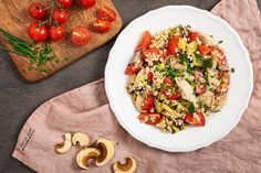 Tempeh, Tofu, Bruschetta, Ethnic Recipes, Bulgur