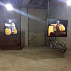 """Join us before for the opening of Jeremiah Quarshie's """"Yellow is the Colour of Water"""" The exhibition is curated by Robin Riskin and installed in a surprise off-site location near our gallery. African Art, Robin, Colour, Yellow, Gallery, Water, Instagram Posts, Africa Art, Color"""