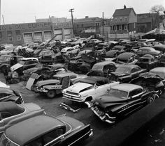 Slick's Used Car Lot. Some cars may need a little attention.