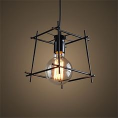 68.88$  Watch now - http://aliw5t.worldwells.pw/go.php?t=32473992728 - American Loft Style Iron Art Retro Droplight Edison Industrial Vintage Pendant Light Fixtures For Dining Room Bar Hanging Lamp