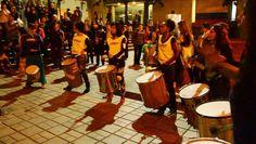 Los tambores de La Tremenda Revoltosa Batucada Feminista retumbaban en las escaleras de la Universidad Javeriana. Cada vez se agiganta más y más nuestro grito de insurgencia en oposición a la violencia sexual!!!! — en Pontificia Universidad Javeriana CON iMAYUSCULA iNSISTENCIA