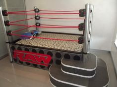 A wrestling ring bed