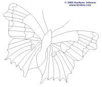 Butterfly Line Drawing, Roxanne Johnson