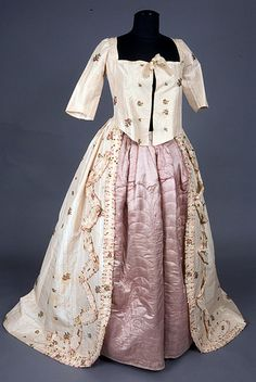 1780s Robe a l'Anglaise