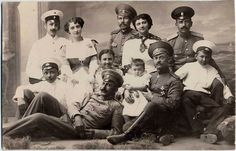 Officers of 124 Voronezh infantry regiment on the picture, with their families