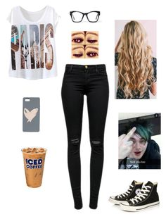 """""""If I Were in a Band Tag"""" by delahunty-ashton ❤ liked on Polyvore featuring J Brand, Converse, Spitfire and Talula"""