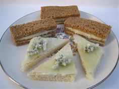 Tea With Friends: Tea Sandwiches Pear & Gorgonzola Tea Sandwiches