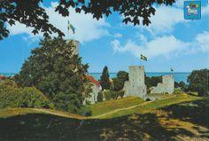 Vykort Gotland, Visby, norra muren
