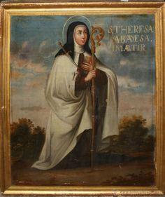 Santa Teresa atravesada por el dardo inflamado del amor divino, según ella misma lo narra en sus escritos.