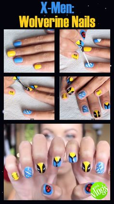 X-MEN NAIL TUTORIAL: WOLVERINE - Get the look by clicking the pic! tutorial, beauty, nail tutorial, comics, x-men, wolverine