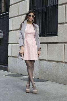Coat: Banana Republic  Dress: Zara  Shoes: Steve Madden