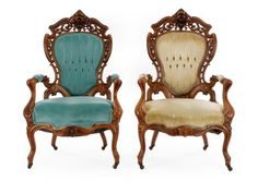 Pair of Rococo Revival Parlor Chairs, Meeks : Lot 175. Hammer Price- $4,250