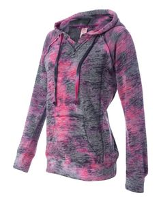 MV Sport Women's Courtney Burnout V-Notch Sweatshirt