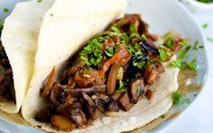 The best way to make a good thing better is to turn it into a taco. In this recipe, tender mushrooms and jalapeño, are wrapped in a soft flour tortilla and topped with fresh cilantro.