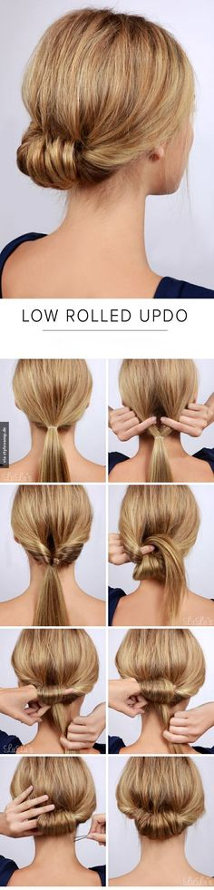 Low Rolled Updo <3