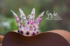 #crown #pink #violet #princess #newborn #beads