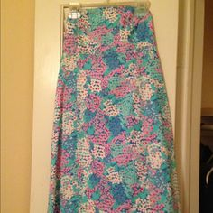 Lily Pulitzer flower sundress Lily Pulitzer flower sun dress Lilly Pulitzer Dresses Strapless