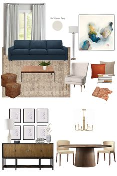 I'm helping a reader tackle her large open concept living room. Here are my ideas for furniture, decor, and accessories to make the most of this space. Love this traditional living room with pops of rust and red. Diy Pipe Shelves, Storage Shelves, Shelving, Install Backsplash, Backsplash Tile, Living Room Setup, Dining Room, White Built Ins, Bedroom Built Ins