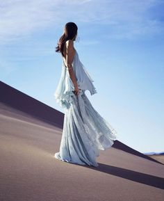 Pastel blue in the desert.