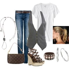 casual friday, created by lkbecker on Polyvore