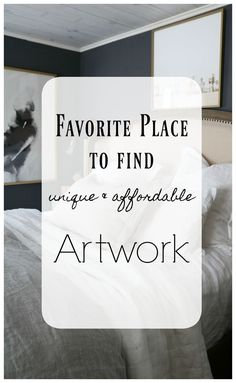 Artwork is personal and can be difficult to find, but really enhances the decor of your home. In this blog post, I'm sharing my favorite place to find unique and affordable artwork. #nestingwithgrace #art #homedecor #decorideas
