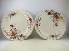 "Set of 2 Copeiand Spode Luncheon Plates 9"" FAIRY DELL VGUC Vintage Bone China  #CopelandSpode"