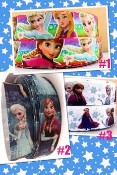 FROZEN SISTERS ~ triple layer large bow