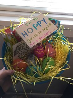 Easter basket for girlfriendboyfriend im so hoppy youre in my easter basket for my boyfriend negle