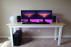 My Minimal DIY Gaming Setup With Handmade Desk