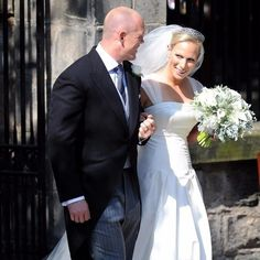 itv - lorraine - Mike Tindall and Zara Phillips after their wedding in 2011