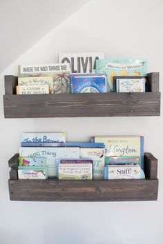 Project Nursery - DIY Nursery Shelves Stained Gray