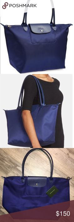3122de2444 Longchamp large Le Pliage Neo nylon tote bag purse Brand new with out tags  . 100