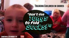 Don't Use Tongs To Fold Socks! {Training Children in Chores}