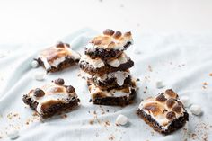 Layered S'mores Brownies  - Delish.com