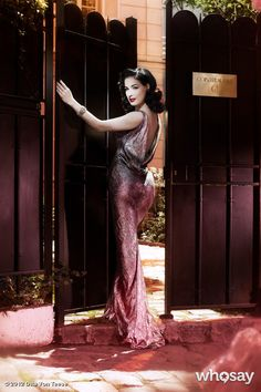 """Dita Von Teese's, photo,""""Would you like to visit my @CointreauPrive bar in Londo…"""""""
