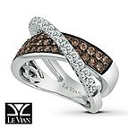 LeVian Chocolate Diamonds 1 1/8 ct tw Ring 14K Vanilla Gold