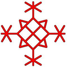 Ligature to protect the houses consist of 4 to Algiz For, 4 Teiwaz, 4 and Thurisaz runes Othel middle. This mark may be applied to the inner side of the front door or cut on an oak plank, and hide speak above or below the entrance to the house. (translated from Russian)