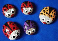 Ladybird Painted Rocks
