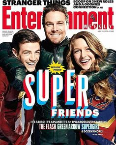 #Repost @entertainmentweekly Take a break from all the election stories and look on the bright side: Things are about to get SUPER on #TheCW! We have all the scoop on the EPIC crossover starring #TheFlash, #Supergirl and #Arrow. Click the link in our bio for a preview, and buy the issue on stands starting November 11. : @aspictures for EW